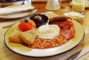 Lobhill Farmhouse Full English Breakfast made in Devon