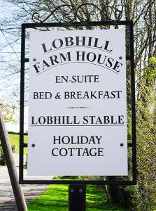 Lobhill Farmhouse Sign