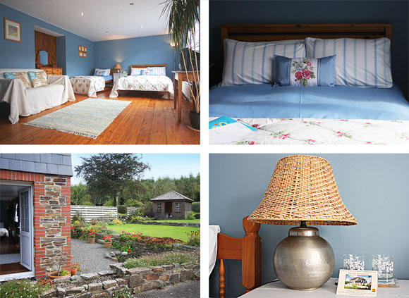 Luxury Devon Bed and Breakfast Lohill Farmhouse Blue Room