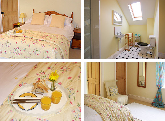 Luxury Devon Bed and Breakfast Lohill Farmhouse Yellow Room
