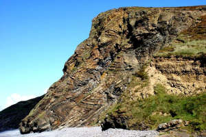 Millook with its incredible zig-zag rock formation
