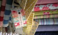 Beautiful fabrics at Cowslip Worshops