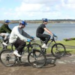 Cycling at Roadford Lake, Devon