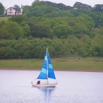 Sailing at Roadford Lake,Lifton