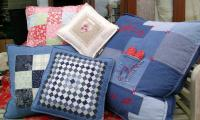 Hand made cushions at the Cowslip Workshops