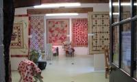 A exhibition of beautiful quilt work at the Cowslip Workshops