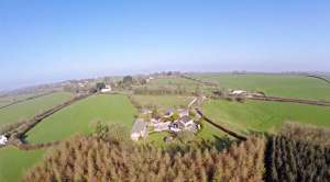 Aerial Video of Lobhill Farmhouse Estate
