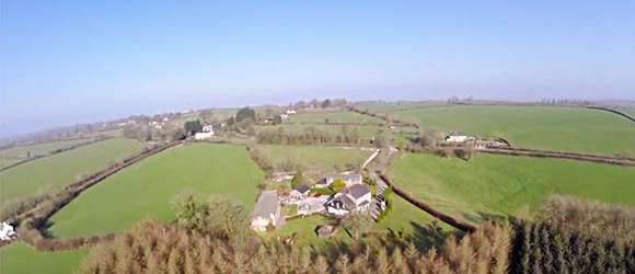 Aerial Video of Lobhill Farmhouse Estate