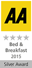 AA 4 Star Silver Award for Lobhill Farmhouse Bed and Breakfast Lewdown Okehampton Devon