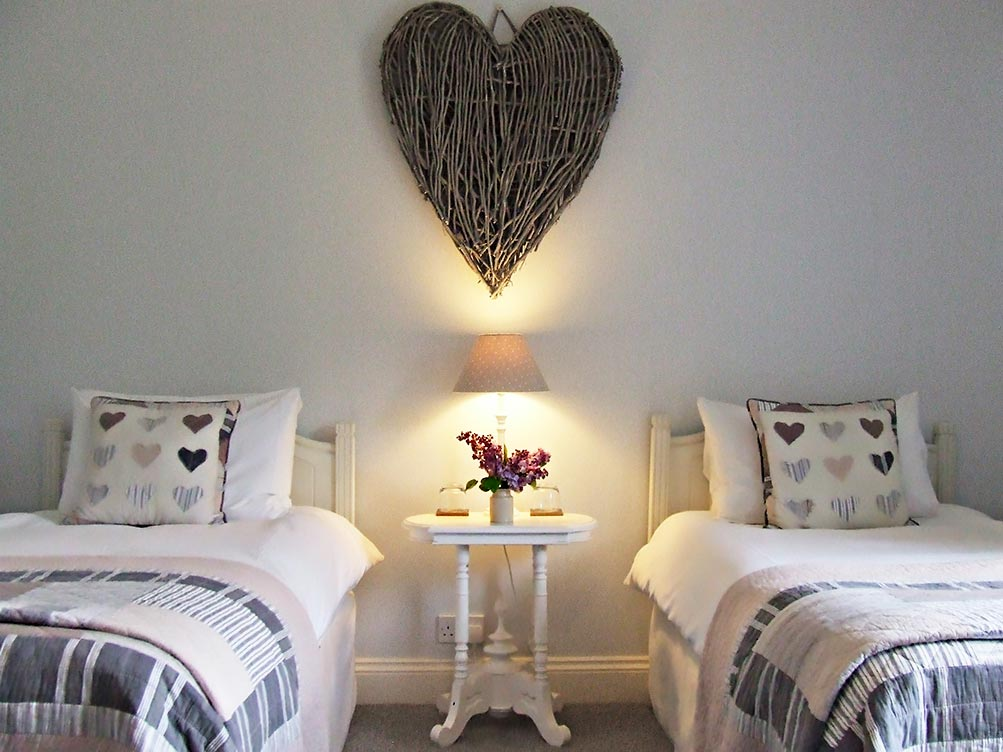 Beautiful bed and breakfast rooms