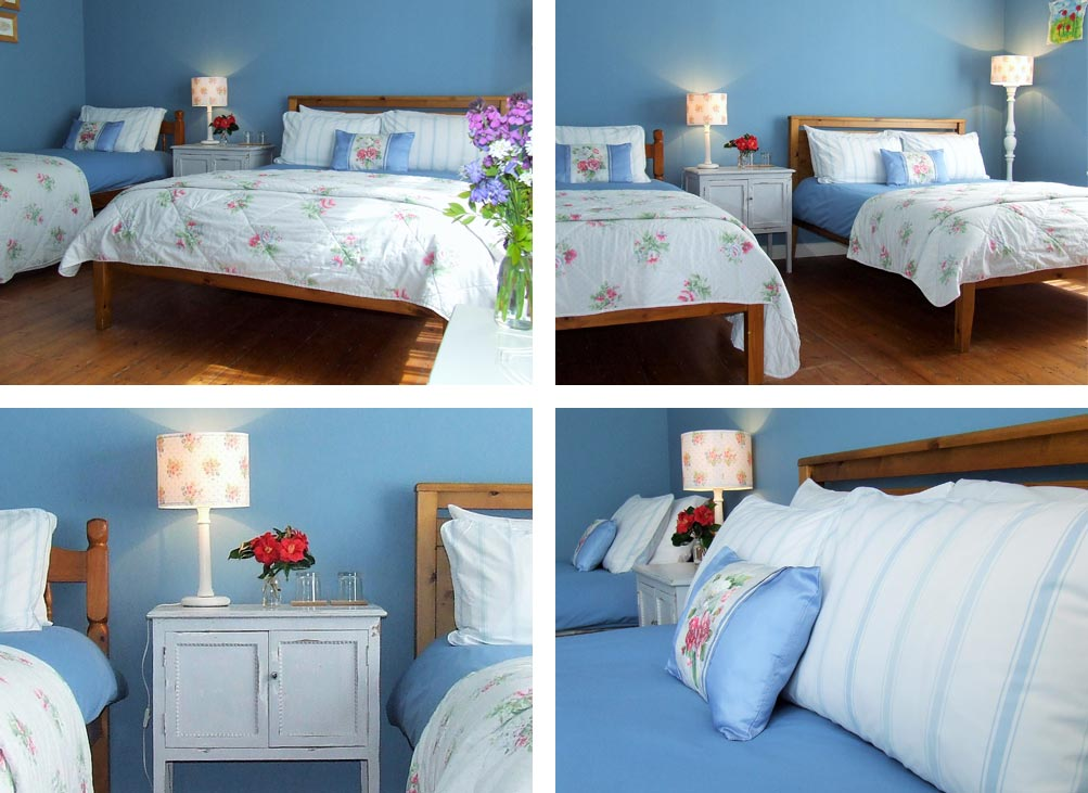 Luxury Devon Bed and Breakfast Devon, Lobhill Farmhouse Blue Room