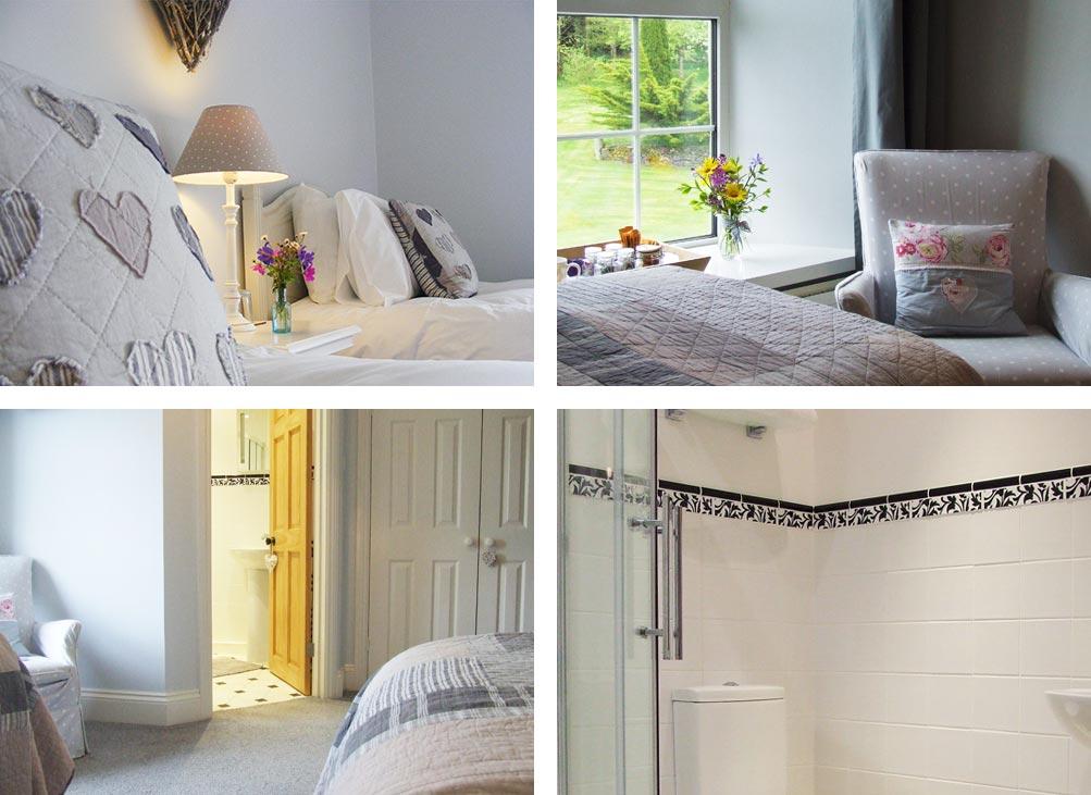 Luxury Devon Bed and Breakfast Lohill Farmhouse White Room